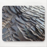 Wild Turkey Feathers II Abstract Nature Design Mouse Pad