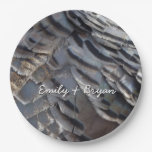 Wild Turkey Feathers II Abstract Nature Design Paper Plate