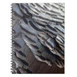 Wild Turkey Feathers II Abstract Nature Design Spiral Notebook