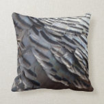 Wild Turkey Feathers II Abstract Nature Design Throw Pillow