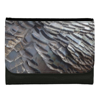 Wild Turkey Feathers II Abstract Nature Design Wallets For Women
