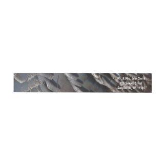 Wild Turkey Feathers II Abstract Nature Design Wrap Around Label