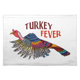 WILD TURKEY FEVER CLOTH PLACE MAT