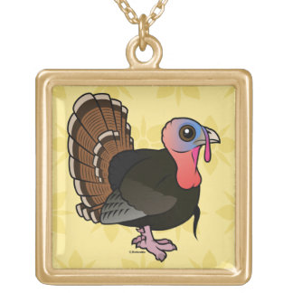 Wild Turkey Gold Plated Necklace