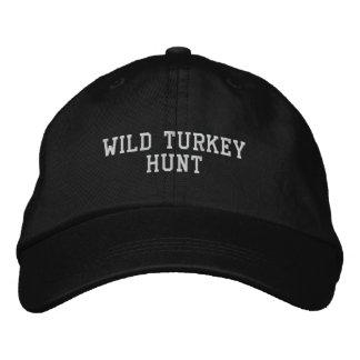 WILD TURKEY HUNT EMBROIDERED BASEBALL CAP