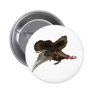 Wild Turkey Hunting Pinback Button