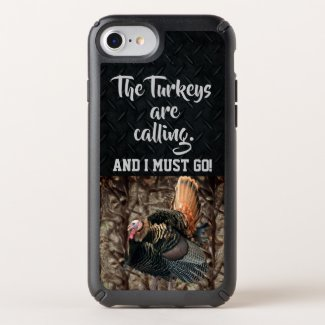 Wild Turkey Hunting Quotes Camo Phone Case