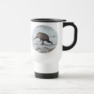 Wild Turkey in Snowy Field Mugs