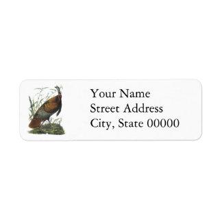 Wild Turkey, John Audubon Custom Return Address Labels