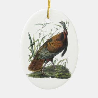 Wild Turkey, John Audubon Christmas Ornament