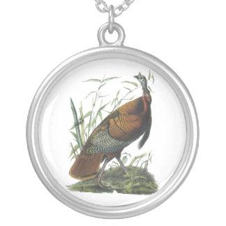 Wild Turkey, John Audubon Silver Plated Necklace