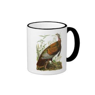 Wild Turkey John James Audubon Birds of America Ringer Coffee Mug