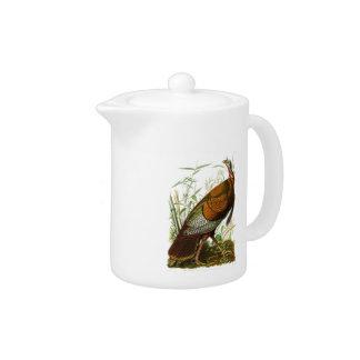 Wild Turkey John James Audubon Birds of America Teapot