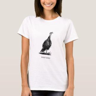 Wild Turkey (line art) T-Shirt