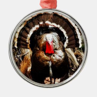 Wild Turkey Metal Ornament