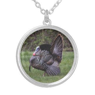 Wild Turkey Round Pendant Necklace