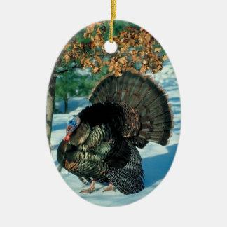 Wild Turkey Photo Holiday Decorations Christmas Ceramic Ornament