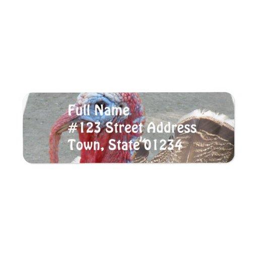 Wild Turkey Picture Mailing Label Return Address Label