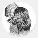 Wild Turkey Round Sticker