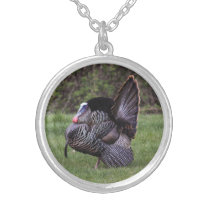 Wild Turkey Silver Plated Necklace