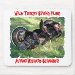Wild Turkey Spring Fling, Author Rick Schamber. Mouse Pad