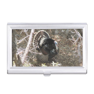 Wild Turkey Strutting for the Ladies Business Card Holder