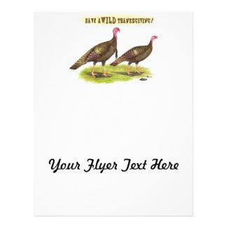 Wild Turkey Thanksgiving Flyer