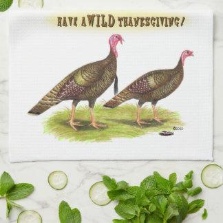 Wild Turkey Thanksgiving Hand Towel