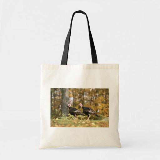 Wild turkey tote bags