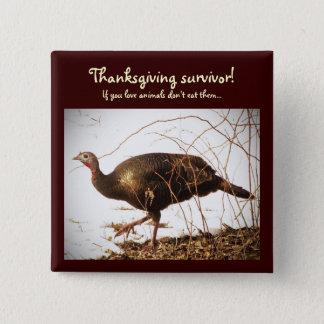 Wild Turkey Vegetarian Pin