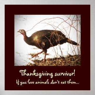 Wild Turkey Vegetarian Poster