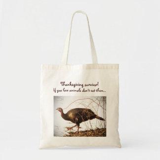 Wild Turkey Vegetarian Tote Bag