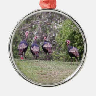 Wild Turkeys Christmas Ornaments