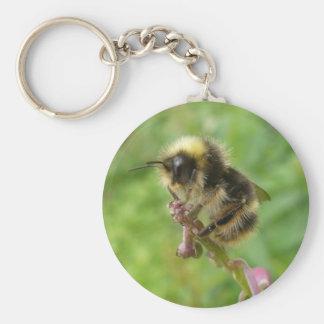 Wild Unalaska Bee in Profile Keychain