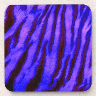 Wild & Vibrant Blue Tiger Stripes Coaster