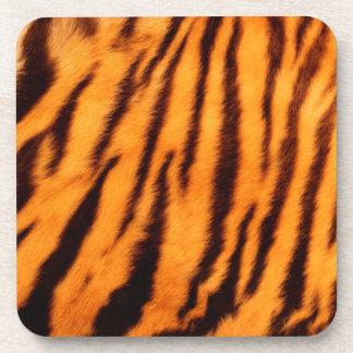 Wild & Vibrant Orange Tiger Stripes Beverage Coaster