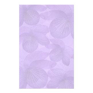 Wild Violet Collage Stationery