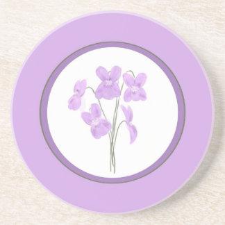 Wild Violet Watercolor Bouquet Coaster