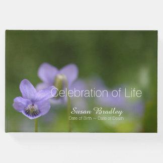 Wild Violets Celebration of Life Guest Book