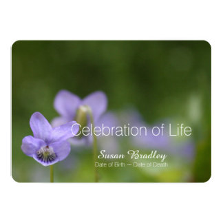 Wild Violets Celebration of Life Invitation