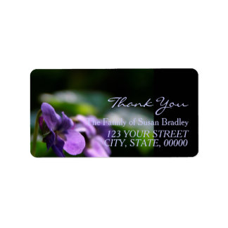 Wild Violets Family Thank You Address Label 2