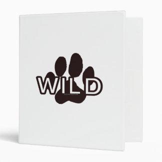 Wild (w/Paw) 3 Ring Binder