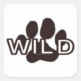 Wild (w/Paw) Square Sticker