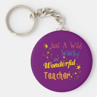 Wild Wacky and Wonderful Teacher Keychain
