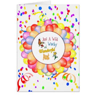 Wild Wacky Wonderful Aunt Gifts Card