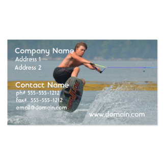 Wild Wakeboarder Business Card Template