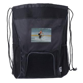 Wild Wakeboarder Drawstring Backpack