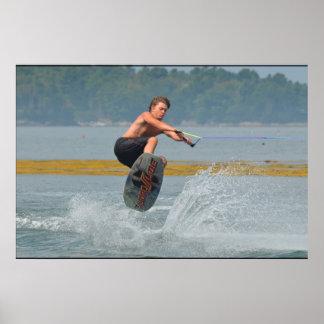 Wild Wakeboarder Print