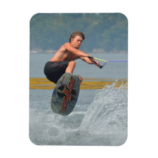 Wild Wakeboarder Rectangle Magnet