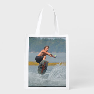 Wild Wakeboarder Reusable Grocery Bags